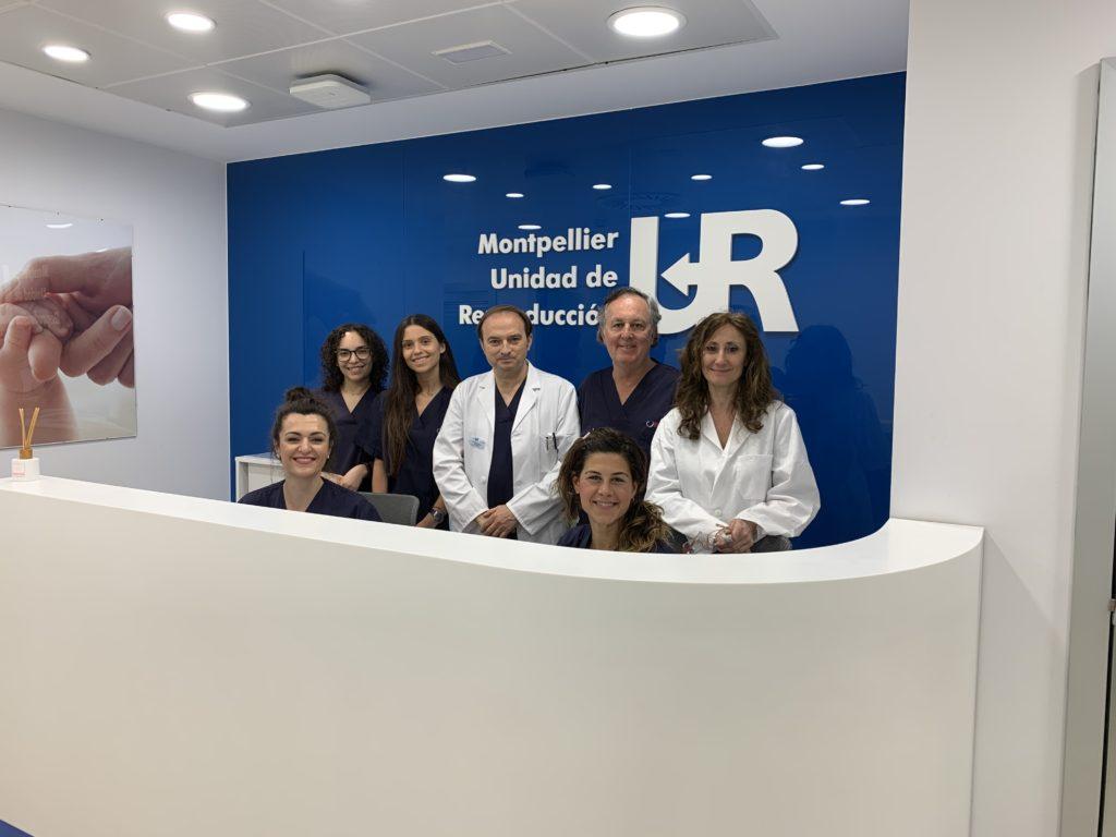 El equipo de UR Montpellier junto a Salvador García Aguirre.